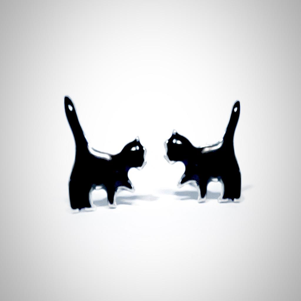 Pendientes gatitos. Hechos a mano